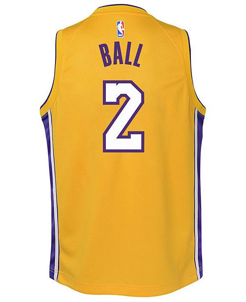 7610e92ee ... Nike Lonzo Ball Los Angeles Lakers Icon Swingman Jersey