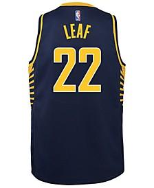 T.J. Leaf Indiana Pacers Icon Swingman Jersey, Big Boys (8-20)
