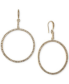 RACHEL Rachel Roy Gold-Tone Pavé Drop Hoop Earrings