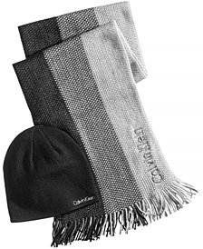 Calvin Klein Men's Ombré Scarf & Hat Set