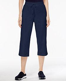 Karen Scott Drawstring Capri Pants, Created for Macy's