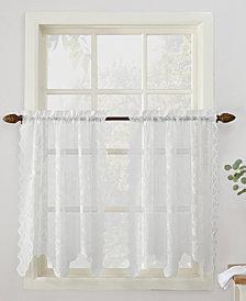 "Lichtenberg No. 918 Alison Floral Lace 58"" x 36"" Rod-Pocket Kitchen Curtain Tier Pair"