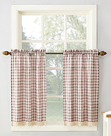 "Lichtenberg No. 918 Maisie Plaid 54"" x 36"" Rod-Pocket Kitchen Curtain Tier Pair"