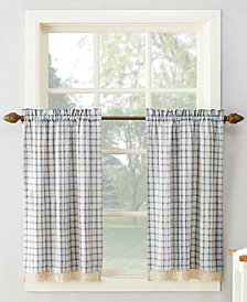 918 Maisie Plaid 54 X 36 Rod Pocket Kitchen Curtain