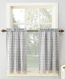 """Lichtenberg No. 918 Maisie Plaid 54"""" x 36"""" Rod-Pocket Kitchen Curtain Tier Pair"""