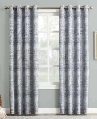 """Darren Distressed Textured Global Jacquard 50"""" x 84"""" Blackout Lined Grommet Curtain Panel"""