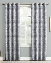 "Sun Zero Darren Distressed Textured Global Jacquard 50"" x 84"" Blackout Lined Grommet Curtain Panel"