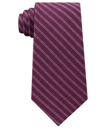 Calvin Klein Men's Stripe Silk Tie