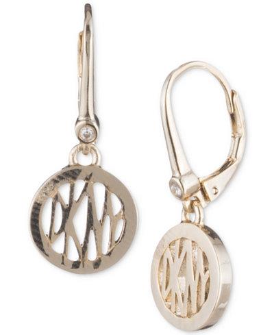Dkny Logo Circle Drop Earrings Created For Macy S