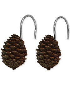 Bacova Pinecone Silhouettes 12-Pc. Shower Curtain Hook Set