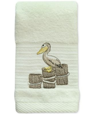 Shorething Cotton Embroidered Fingertip Towel