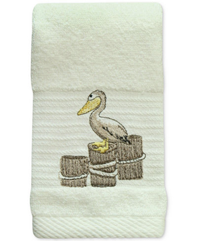 Bacova Shorething Cotton Embroidered Fingertip Towel