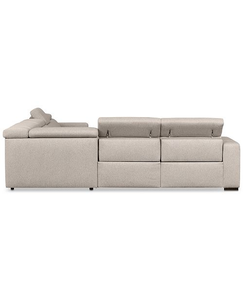 Furniture Nevio 6 Pc Fabric Sectional Sofa With Chaise 3