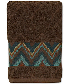 Bacova Sierra Cotton Zig-Zag Fingertip Towel