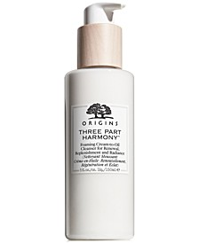 Three Part Harmony Foaming Cream-to-Oil Cleanser for Renewal, Replenishment and Radiance, 5 oz