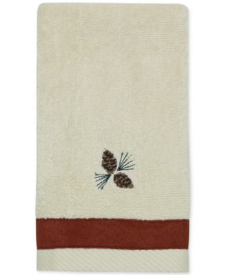 North Ridge Cotton Embroidered Fingertip Towel