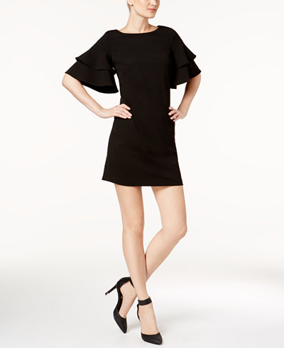 Calvin Klein Ruffle-Sleeve Mini Dress