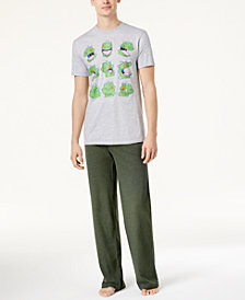Bioworld Men's Nickelodeon RUGRATS Reptar Pajama Set