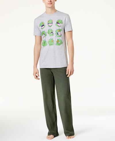 Bioworld Men's Nickelodeon RUGRATS Reptar Pajama Set