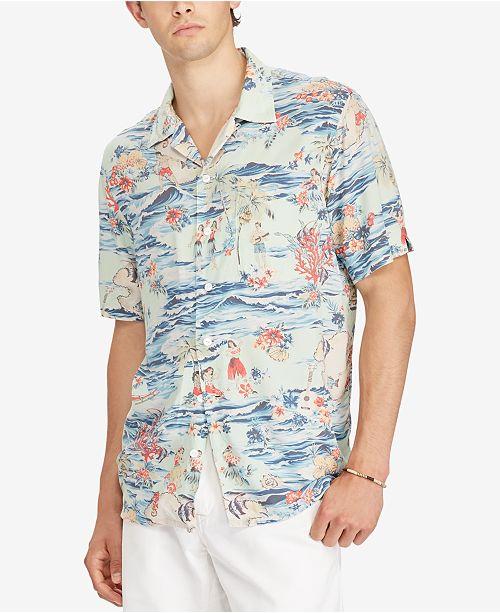 d53ea58f Polo Ralph Lauren Men's Classic-Fit Shirt & Reviews - Casual Button ...