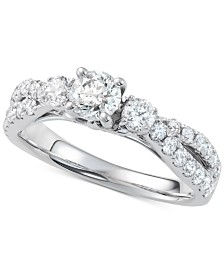 Diamond Twist Engagement Ring (1-1/4 ct. t.w.) in 14k White Gold