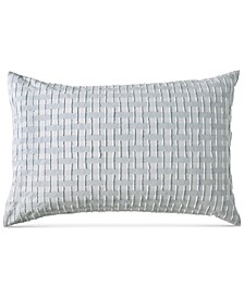 Refresh Cotton Tufted-Chenille Broken Stripe Standard Sham
