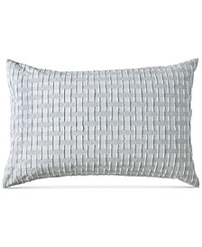 DKNY Refresh Cotton Tufted-Chenille Broken Stripe Standard Sham