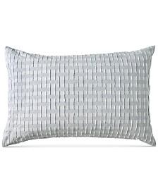 DKNY Refresh Cotton Tufted-Chenille Broken Stripe King Sham