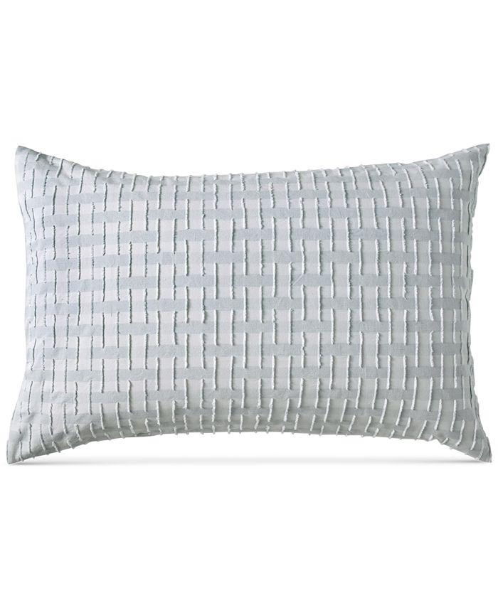 DKNY - Refresh Cotton Tufted-Chenille Broken Stripe Standard Sham