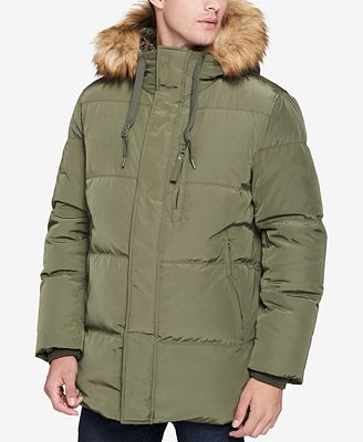 Marc New York Men's Glasnevin Quilted Parka with Faux-Fur Lining ...