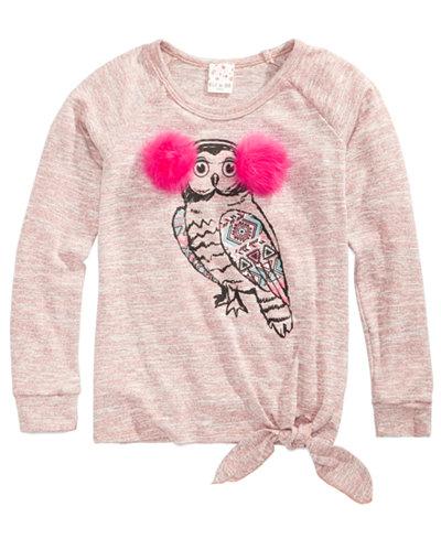 Belle Du Jour Owl Sweater, Big Girls