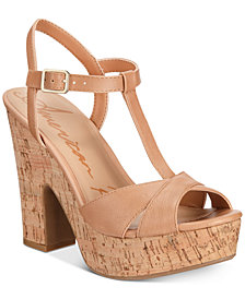 American Rag Jamie T-Strap Platform Dress Sandals, Created for Macy's