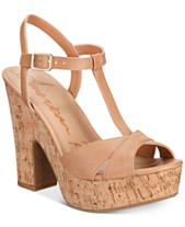 0fe5625a28 American Rag Jamie T-Strap Platform Dress Sandals, Created for Macy's