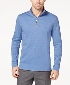Tasso Elba Men's Supima® Cotton Quarter-Zip Sweater, Created for Macy's