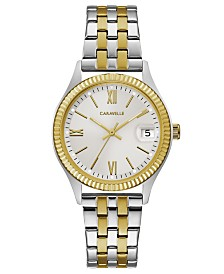 Caravelle Designed by Bulova  Women's Two-Tone Stainless Steel Bracelet Watch 32mm