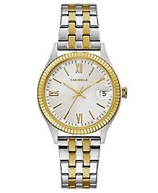 Caravelle Designed by Bulova  Women's Two-Tone Stainless Steel Bracelet Watch 32mm