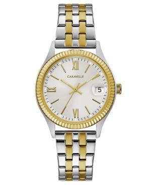 Designed by Bulova Women's Two-Tone Stainless Steel Bracelet Watch 32mm