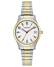 Caravelle Women's Two-Tone Stainless Steel Bracelet Watch 30mm