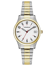Caravelle Designed by Bulova  Women's Two-Tone Stainless Steel Bracelet Watch 30mm