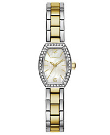 Caravelle Women's Two-Tone Stainless Steel Bracelet Watch 18x24mm
