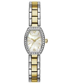 Caravelle Designed by Bulova  Women's Two-Tone Stainless Steel Bracelet Watch 18x24mm