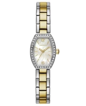 Designed by Bulova Women's Two-Tone Stainless Steel Bracelet Watch 18x24mm