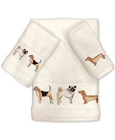 Avanti Dogs on Parade Cotton Embroidered Fingertip Towel