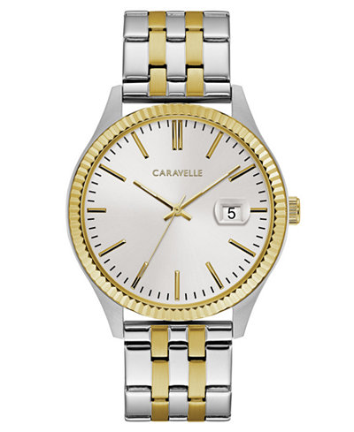 Caravelle Men's Two-Tone Stainless Steel Bracelet Watch 41mm