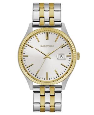 Designed by Bulova Men's Two-Tone Stainless Steel Bracelet Watch 41mm