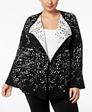 Alfani Plus Size Open-Front Cardigan Created for Macys