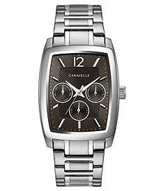 Caravelle Men's Stainless Steel Bracelet Watch 46x34mm