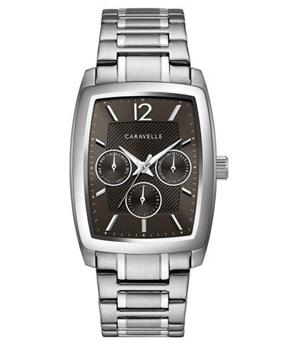 Caravelle Men's Stainless Steel Bracelet Watch 46x34mm