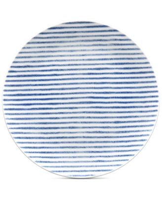 Blue Hammock Coupe  Stripe Salad Plate, Created for Macy's