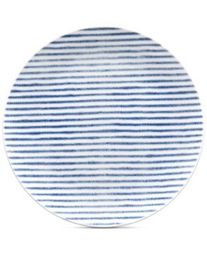 Noritake Blue Hammock Coupe Stripe Salad Plate Created for Macys